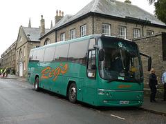 Reg's Coaches YN07 NUP in Bury St. Edmunds - 23 Nov 2019 (P1050933)