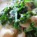 Kale and chiocciole in white bean Alfredo sauce