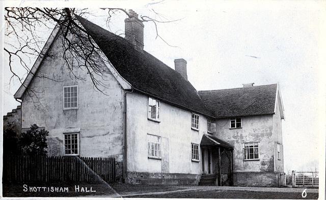 Shottisham Hall, Suffolk (from an Edwardian postcard)