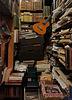 Guitar in a bookshop