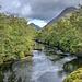 Dark water, River Etive, Glen Etive, Argyll, Scotland