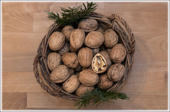 walnuts basket