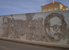Mural by Vhils.