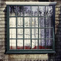 behind  the green window