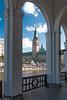 Hamburg City Hall - Rathaus von den Alsterarkaden (180°)