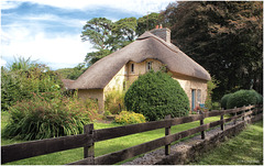 Pinkish Thatched Cottage