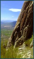 Sierra de La Cabrera (one of the many rock climbing faces)
