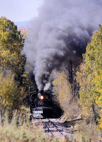 Fall Foliage and Cumbres and Toltec Steam Locomotives