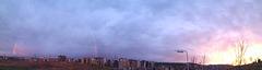 Panorámico con arco iris