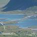Norway, Lofoten Islands, Two Bridges (or Twin Bridge) on the Way to the Ytresand Beach
