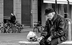 Street musician's break