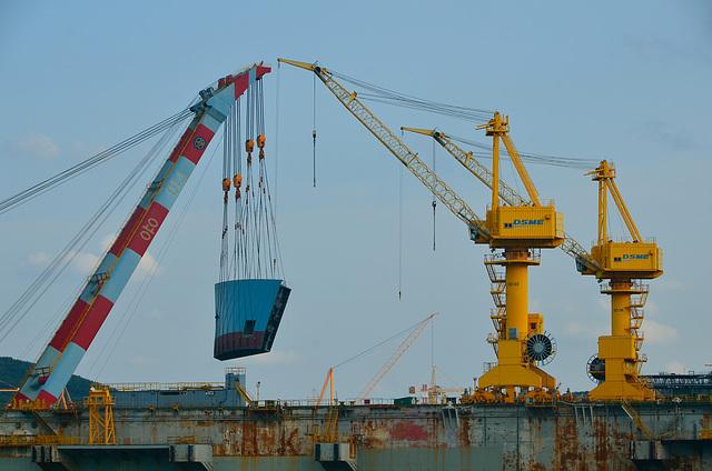 Heavy lift cranes, DSME