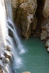 Wasserfall in der Rappenlochschlucht (© Buelipix)