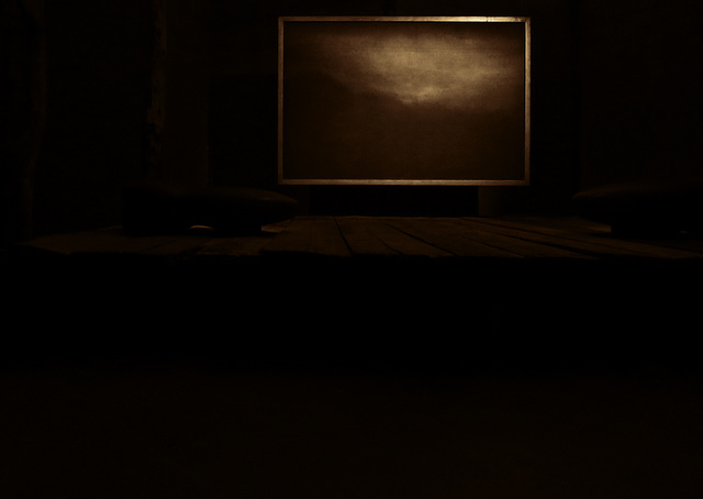 Painting in the dark.