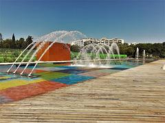 Parque de Santander, Madrid.  H. A. N. W. E.  everyone!