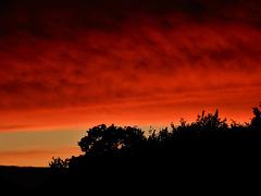ciel d'hier soir au coucher du soleil