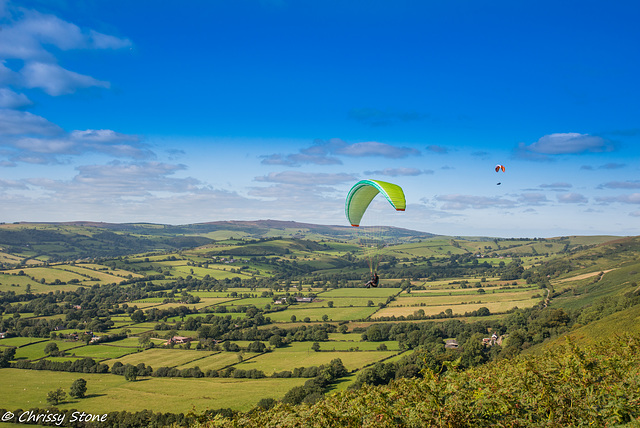 Paragliders on the Mynd
