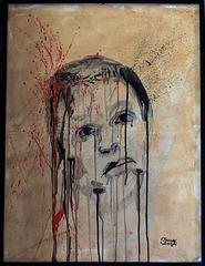 """"""" La souffrance """" . Peinture acrylique sur toile"""