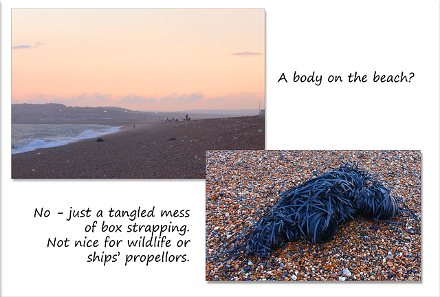 Strapping body on the beach - Seaford - 5.4.2016