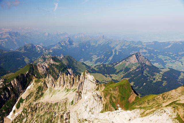 Aussicht vom Säntis, Schweiz