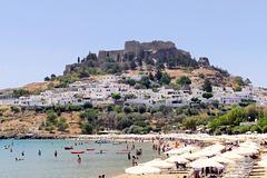 L'acropole et la plage de Lindos