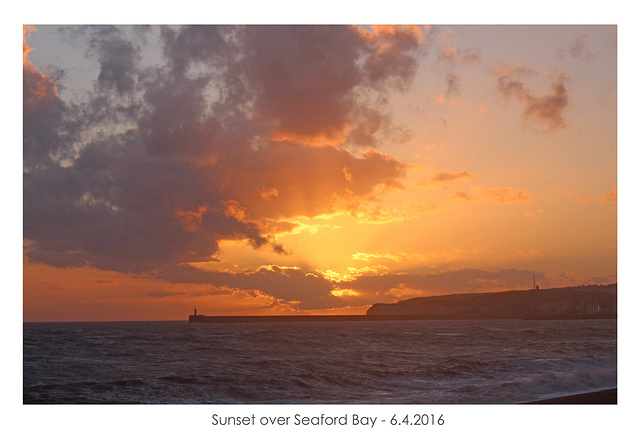 Sunset over Seaford Bay - 6.4.2016