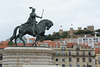 Lisbon, Statue of King João I and the Castle