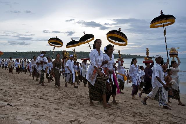 Ceremony of the beach Jimbaran, Bali