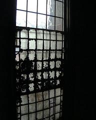 Leeds Grand Theatre an old lead beaded window