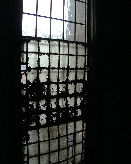 Old lead beaded window