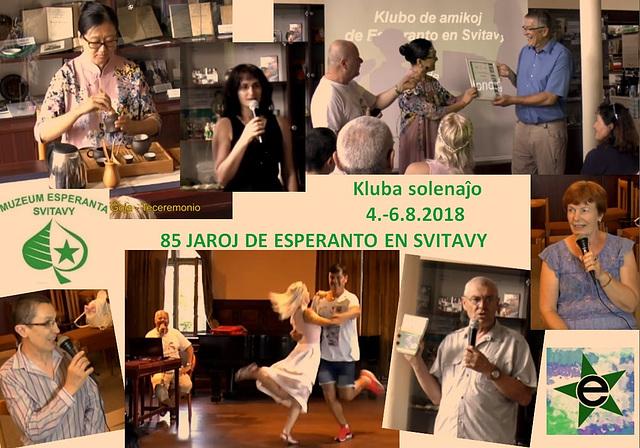 Solenaĵo okaze de 85jariĝo de la Klubo de amikoj de Esperanto en Svitavy