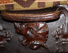 Detail of Fifteenth Century Misericord, Great Malvern Priory, Worcestershire