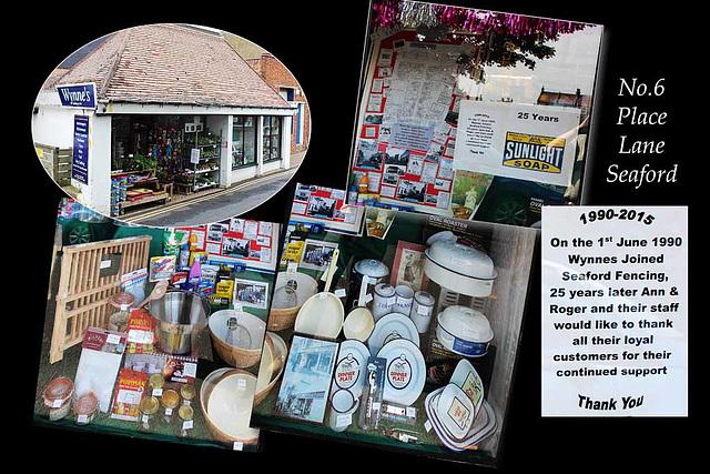 Wynne's 25 anniversary window - Seaford - 18.6.2015