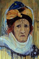 """"""" La Bérbère """" . Peinture acrylique sur toile"""