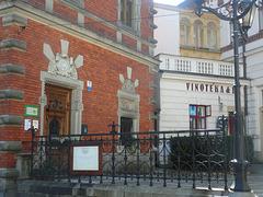 Enirejo al la Ottendorfer-Domo kaj al la muzeo