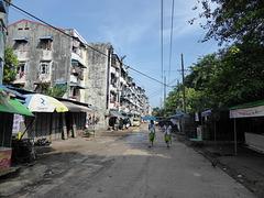 In den Straßen von Yangon!