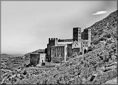 Monastère bénédictin de Sant-Pere-de-Rodes (E / Catalogne) 20 mai 2015.