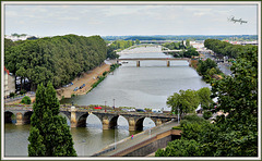 Angers le pont vue du Château !