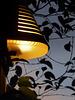 romantic lamp at blue hour