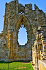 Whitby Abbey Church - West Front 15th century window