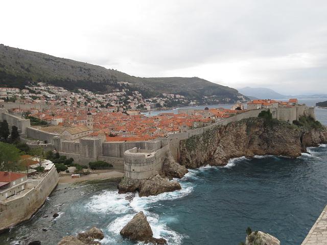 Vue sur Dubrovnik depuis le fort Lovrijenac, 2.
