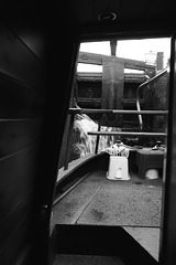 Through the door of the narrow boat 1