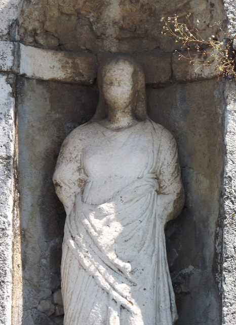 Detail of a Sculpture from the Sanctuary of Fortuna Primigenia in ancient Praeneste / modern Palestrina, June 2012