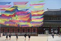 L'anniversaire de Bouddha fêté au Palais Gyeongbokgung, Séoul (Corée du Sud)