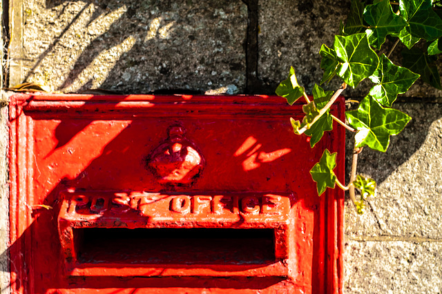 Post Box with Ivy