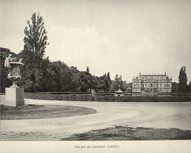 Album von Dresden: Palais im Großen Garten