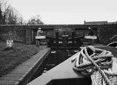 Working the locks on the Staffordshire and Worcestershire canal 3