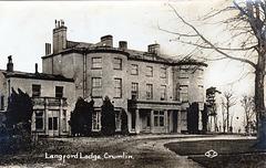 Langford Lodge, Crumlin, County Antrim, Ireland (Demolished c1960)