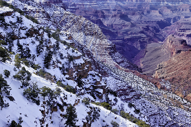 Counterpoint – Viewed from the Watchtower, Desert View, Grand Canyon, Arizona