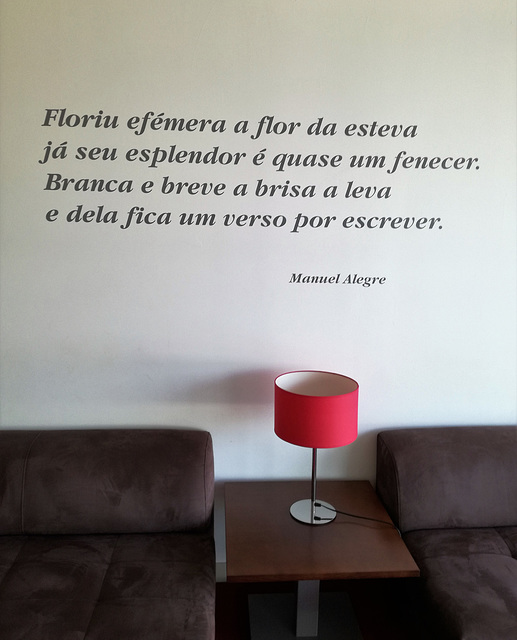 "On the wall of ""A Esteva Hotel"" lobby, Castro Verde"